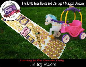 Custom Decals Replacement Stickers for Little Tikes Horse & Carriage Unicorn