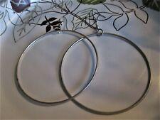 Large Circle Dangle Earrings �� �� Jewelry Garage Sale!�� Silver-Tone