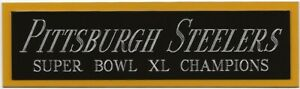 2005 STEELERS SUPER BOWL XL NAMEPLATE FOR AUTOGRAPHED Signed FOOTBALL JERSEY