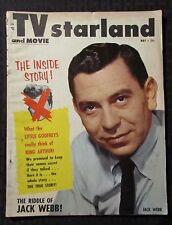 1954 May TV AND MOVIE STARLAND Magazine VG- 3.5 Jack Webb Cover
