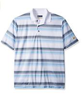 Jack Nicklaus Men's Short Sleeve Printed Birdseye Polo Stripe Sizes: S M L