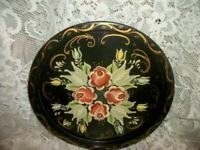 VINTAGE HP TOLE TRAY PA DUTCH STYLE TOLEWARE NICE PAINTING MID CENTURY