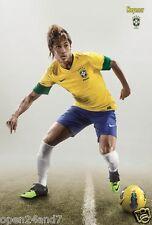 """NEYMAR JR. """"READY FOR ACTION FOR BRASIL"""" POSTER - CBF, FIFA World Cup Soccer"""