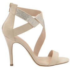 Ladies DOLCIS VICTORIA Nude Stiletto Peep Toe Sandal Court Shoes UK 6