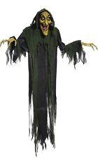 Halloween LifeSize Animated 72'' LIGHT UP EYES HANGING WITCH Prop Haunted House