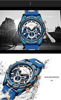 746  Montre-bracelet-homme-acier inoxydable-Chronographe-watch-montre-mode-luxe