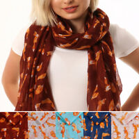 Ladies Fox Scarf 50th Birthday Gift For Women Animal Print Ban The Hunt Scarf