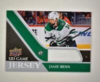 2020-21 UD Series 1 Game Jersey Relic #GJ-JB Jamie Benn  - Dallas Stars