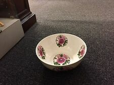"Port Meirion Large Round Porcelain ""Rose"" Pattern Display or Fruit Bowl 10.5"""