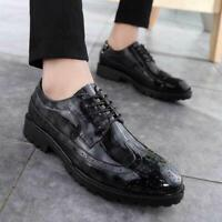 Classic Mens Business Oxford Leather Shoes Loafer Dress Formal Wedding Brogue sz