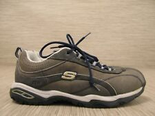 Skechers Work Gray Brown Suede Shoes Women's Size US 7 EUR 37 Lace Up Oxfords