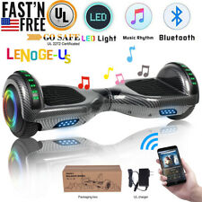 """6.5"""" Hoverboard Bluetooth Wheel Electric Self Balance Scooter without Bag Black"""