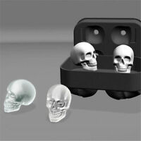 Silicone 3D Skull Ice Cube Mold Cocktail Whisky Ice Mould Tray Party Gift