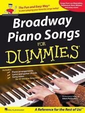 Broadway Piano Songs for Dummies (Piano/Vocal/Guitar Songbook)-ExLibrary