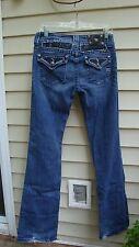Miss Me Sz 29 Black Rhinestone Stretch Jeans Style: JP4221RB