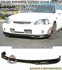 Spn-Style Front Lip (Urethane) Fits 99-00 Honda Civic 2dr