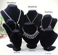 Shop Mannequin Bust Jewelry Necklace Pendant Earring Display Stand Holder JR