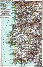 Antique map landkaart Portugal 1897 carte