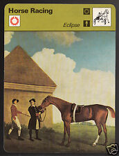 ECLIPSE Horse Racing Stubbs Art Painting 1977 SPORTSCASTER CARD 59-09