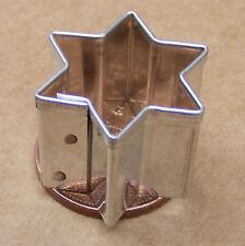 1 x Metal Star Clay Cutter Dolls House Miniature Sugarcraft 2.1cm Diameter