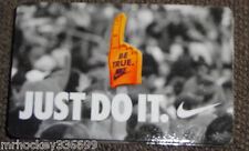 Nike CANADA Just Do IT Collectors gift card (no cash value) English/French