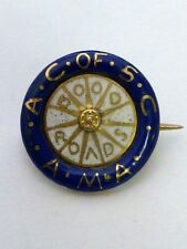 """Early American Motorcyclist AC of SC A.M.A. """"Good Roads"""" 14K gold pin"""