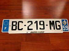 Genuine FRANCE Rare EURO LICENSE PLATE  #BC219MG Department #59