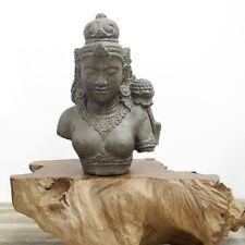 Dewi Tara Büste Stein-Figur Gartenfigur Asiatisch Skulptur Buddha Lavastein 52cm