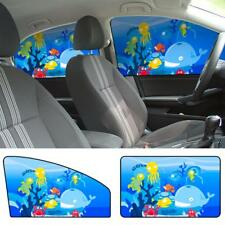 4PCS Magnetic Cartoon Curtain Car Window Sun Shade Anti UV Cover Visor Baby Kids