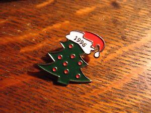 Christmas 1996 Lapel Pin - Vintage Xmas Tree Ornaments Stocking Cap Holiday Pin