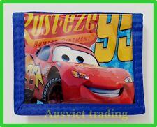Brand new Disney Pixar Cars McQueen wallet boys kids cartoon tri-fold coin purse