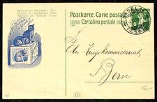 s1767c) Entier postal Hoffmann´s épaisseur avec bleu Chat privé-GA Suisse 1915