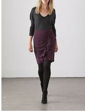 purple COUNTRY ROAD wrap ruffle silk women's skirt sz.6 RRP$159