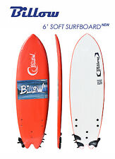 Billow 6' Fish Soft Surfboard, 6ft Fish Soft Board with Leash & Fins