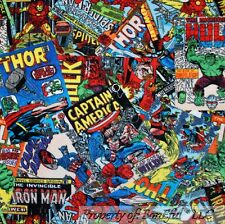 BonEful Fabric Fleece BTHY 1/2 Yd Super Hero Captain America Hulk Spider*man Boy