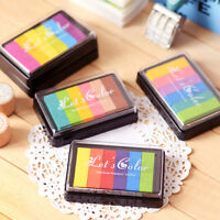 Multi Colours Set Ink Pad Inkpad for Paper Wood Fabric for Rubber Stamps Kit·