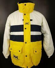 Helly Hansen Mens Vintage Puffer Jacket Winter Warm Coat SMALL Yellow Nylon