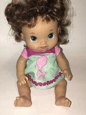 "Hasbro BABY ALIVE 2011 BEAUTIFUL NOW Hispanic Brunette Poodle Dress DOLL 13"""