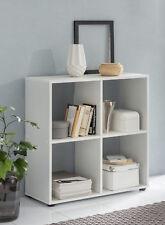 Wilmes: Raumteiler mit 4 Fächer - Bücherregal Standregal Wohnzimmerregal - Weiß