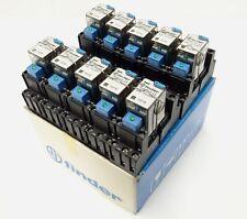10x FINDER 55.33.9.220.0010 Industrie-Relais 220VDC 3W + 94.83.10 99.80.9.220.99