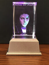 Michael Jackson 3D Laser Crystal Block with LED Base Colour Change Night Light 1