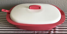 Tupperware Legacy Rice and Soup Server Bowl w/ Spoon Coral / Pink New
