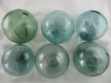 6 Trademarked Vintage Beach Combed Glass Floats Alaska BeachComberBum