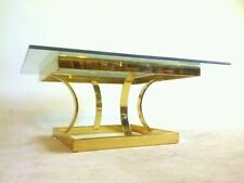 Vintage Baughman Mid Century Brass Cocktail Coffee Table Atomic Gold Mastercraft