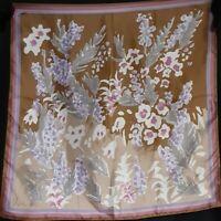 1960's Abstract Floral Vera Neumann Ladybug Scarf (23 x 23)