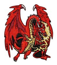 Red Fire Breathing Dragon Patch European Legend Fantasy Craft Iron-On Applique