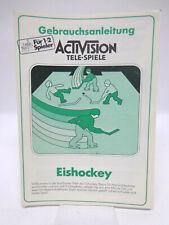 Anleitung - Handbuch - Bedienungsanleitung Atari - Eishocky / Ice Hockey