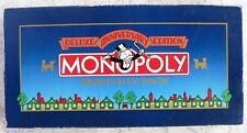 Vintage Deluxe Anniversary MONOPOLY - Complete EUC - Wooden Gold tone token 1985