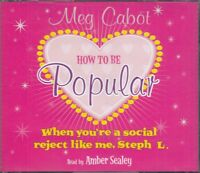 How to be Popular When You're A Social Reject Meg Cabot 3CD Audio Book FASTPOST