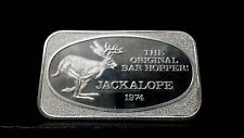 'THE ORIGINAL BAR HOPPER JACKALOPE 1974 1oz  Silver bar.
